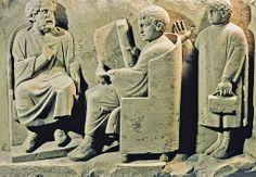 School scene on a Roman tomb. III century a.C.