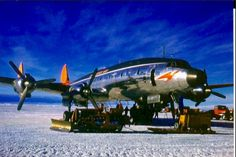 """An L-1049 """"Connie"""" during arctic operations."""