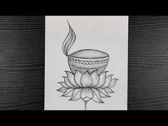 Beautiful Diya Drawing || Diwali Special Diya Drawing || Diya Drawing Easy || Pencil Sketching - YouTube