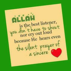 Allah doesn't need to hear to it spoken out loud