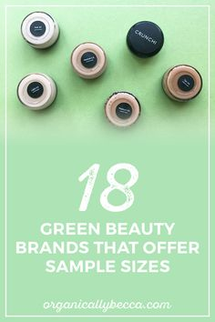 Non-toxic health and beauty brands that sell sample and trials sizes.
