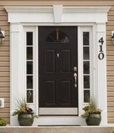 Exterior/Interior Decorative Architectural Entry & Window Systems for Sale Exterior Trim, Exterior Doors, Door Design, House Design, Craftsman Front Doors, Classic Ceiling, Exterior Remodel, Arched Windows, Ceiling Design