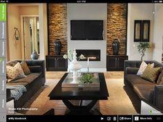 TV/fireplace wall