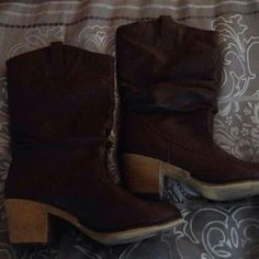 Boots Very cute brown boots Charles Albert Shoes