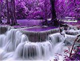 #5: DIY 5D Diamond Painting by Number Kit Waterfall Landscape Crystal Rhinestone Embroidery Cross Stitch Arts Craft Supply Canvas Wall Decor