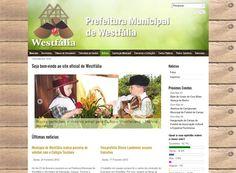 Site para a Prefeitura Municipal de Westfália, em parceria com a agência UP.