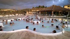 Heerlijk genieten van het warme water in de thermen van San Giovanni in Rapolano Terme