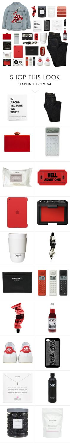 """with my girl in my red mercedes"" by junglex ❤ liked on Polyvore featuring Gucci, Dsquared2, Oscar de la Renta, LEXON, Korres, Apple, NARS Cosmetics, ROOM COPENHAGEN, Aesop and Acne Studios"