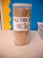 journal sticks...for station or whole class