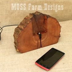 Rustic Phone Dock Iphone Charging Station Droid Holder by Michael Bolton