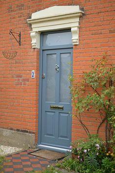 Stunning timber door in Urbane grey