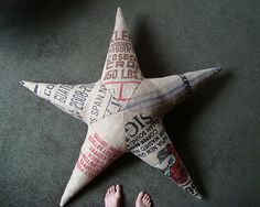 coffee sack burlap star