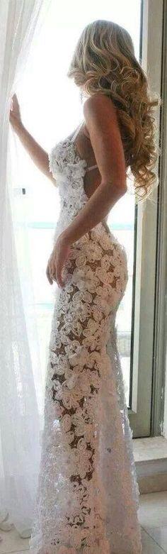 #fashion #style white dress flowers @wachabuy