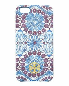 Robinson+Printed+Hard+Shell+iPhone+5+Case,+Blue+Multi+at+CUSP.