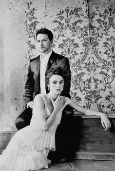 James McAvoy & Keira Knightley, Vanity Fair (US), December 2007