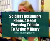 Soldiers Returning Home. A Heart Warming Tribute To Active Military Happy Birthday Dear Friend, Soldiers Returning Home, Birthday Gifs, Children Pictures, Flower Tower, Receding Gums, Love Husband Quotes, Friends Image, Facebook Image