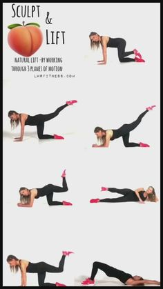 Fitness Workouts, Yoga Fitness, Gym Workout Videos, Gym Workout For Beginners, Fitness Workout For Women, Easy Workouts, At Home Workouts, Workout Routines, Morning Ab Workouts