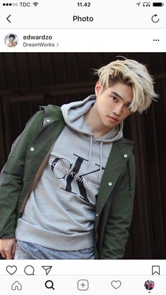 Edward Zo is known for his work on Insurgent The Brits Are Coming and F*&% the Prom Short Dyed Hair, Dyed Hair Men, Dyed Hair Purple, Dyed Hair Pastel, Boy Hairstyles, Trendy Hairstyles, Bleached Hair Men, Blonde Asian Hair, Silver Hair Men