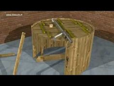 Wood Fired Hot Tub 170cm From Spruce With Internal Furnace - YouTube