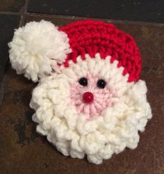 Santa Badge/Decoration Motif By Shalene McKay - Free Crochet Pattern - (ravelry)