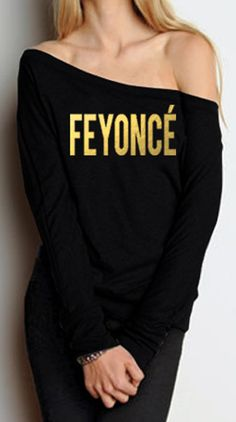 FEYONCE Gold Foil OFF Shoulder #Long #Sleeve by #NobullWomanApparel, for only $34.99! Click here to buy http://www.etsy.com/listing/189769666/feyonce-gold-foil-off-shoulder-long?ref=shop_home_active_11