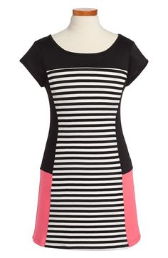 Free shipping and returns on Sally Miller Short Sleeve Dress (Big Girls) at Nordstrom.com. Mod color blocks and pops of neon give this short-sleeve dress a standout look she'll love.