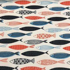 Geometrik Balıklar Dijital Baskı Kumaş isimli ürünümüzü sitemizden satın alabilirsiniz. En 140 cm metresi 25 #intaslar #kumaş #dijitalbaskılıkumaş #dekor #kırlent