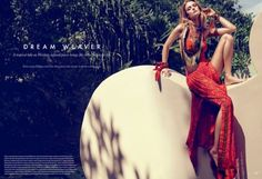 Kate Bock takes on bohemian western style for Elle Canada January 2016 by Max Abadian [fashion]