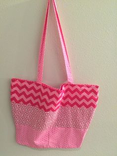 Hot Pink Chevron - Beach Tote, $25.00