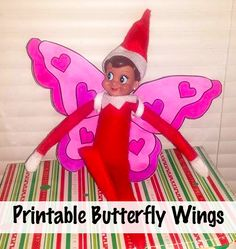 Elf on the Shelf Butterfly Printable Wings and More Elf on the Shelf Ideas! This blog is filled with ideas!