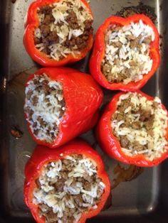 Stuffed Red Bell Pepper Recipe - Genius Kitchen