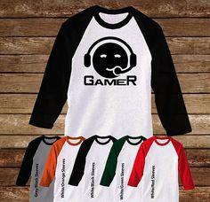 Gamer Boy Raglan Tshirt/Gamer/Video
