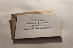 Save the date cards letterpress printed a7 size pearl save the date letterpress printed reheart Gallery