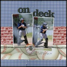images of sports layouts for scrapbooking | Found on scrappinsportsandmore.blogspot.com