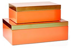 Hinged Coral Boxes, Asst. of 2 on OneKingsLane.com