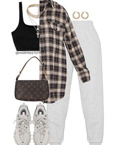 Teen Fashion Outfits, Swag Outfits, Mode Outfits, Retro Outfits, Look Fashion, Stylish Outfits, Girl Outfits, Mein Style, Cute Comfy Outfits