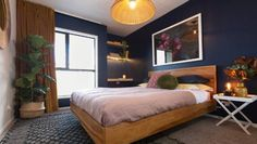 The Block NZ Week 1 - Moody Botanical - Winners Contemporary Bedroom, Modern Bedroom, Bedroom Decor, Bedroom Inspo, Bedroom Ideas, The Block Nz, Inside Home, Stylish Bedroom, Room Planning