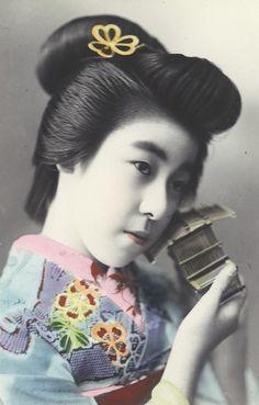 porträtt, kvinna, fotografi, photograph Hand Coloring, Japanese, Japanese Language