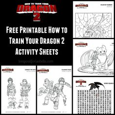 How to Train Your Dragon free printables #HTTYD2