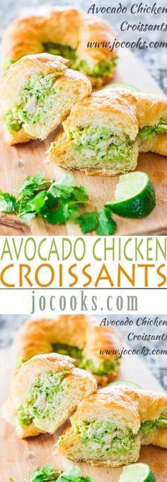 Avocado Chicken Croissants by henrietta