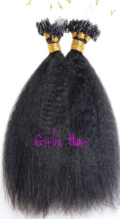 1G 100S AFRO CURLY MICRO LOOP REMY HAIR EXTENSIONS