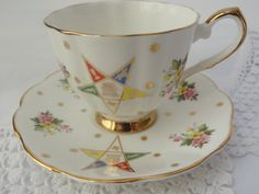 teacup Vintage Eastern Star china cup and by VintageBettyLuke, $26.95