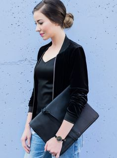 Mada Boutique: Black to Basics Fall Collection Fall Collections, Online Boutiques, All Black, Custom Design, Bomber Jacket, Clothes For Women, My Style, Womens Fashion, Casual