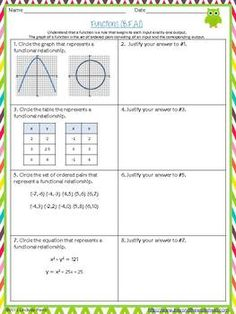 Printables Common Core Math Worksheets 8th Grade warm the ojays and math on pinterest this resource contains a one page assessment for each 8th grade common core standard