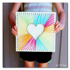 heart string art with yar