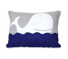 Kids Whale Pillow Cover