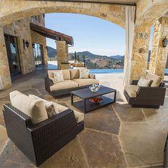Portofino Comfort 4-piece Seating Set in Brown
