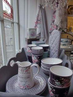 GreenGate Ceramic Anna Mauve and Evelyn Vintage