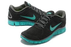Nike Free 5.0 Fur Couple Shoes Dark Gray Green