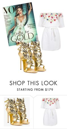 """""""Goddess Style"""" by retrosam76 ❤ liked on Polyvore featuring Giuseppe Zanotti and Pampelone"""